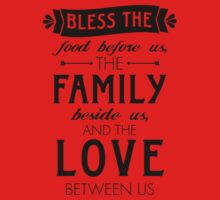 Bless The Family Beside Us Kids Tee