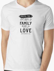 Bless The Family Beside Us Mens V-Neck T-Shirt