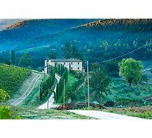 Farmhouse in Tuscany Photographic Print