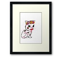 Zombie Kitten Framed Print