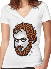 Stanley Kubrick Women's Fitted V-Neck T-Shirt