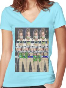 Salad Days Glitch Women's Fitted V-Neck T-Shirt