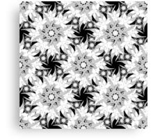 Black and white seamless floral pattern.  Canvas Print