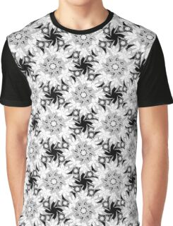 Black and white seamless floral pattern.  Graphic T-Shirt