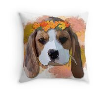 Baby Beagle Throw Pillow