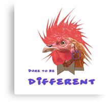 Dare to Be Different on White Canvas Print