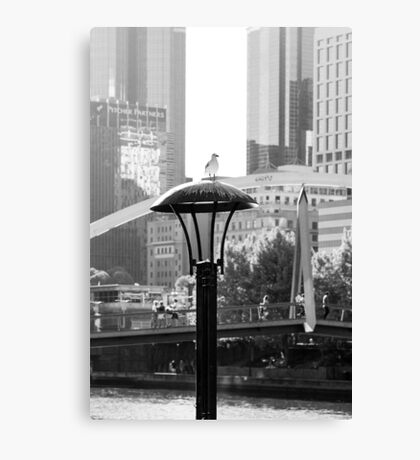 Birds eye view of the city Canvas Print