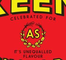 As Keen As Mustard Sticker