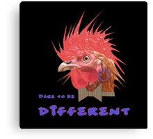 Dare to Be Different on Black Canvas Print