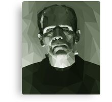 Frankenstein in Low-Poly Canvas Print