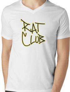 Rat Club Mens V-Neck T-Shirt