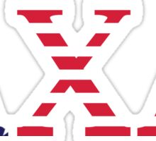 Lambda Chi Alpha USA Flag Sticker