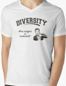 Diversity - Midgets in Basketball Mens V-Neck T-Shirt