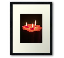 Light A Three Way Candle Framed Print