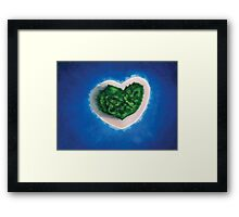 Heart Island  Framed Print