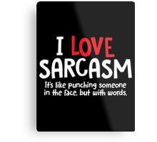 sarcAsm words Metal Print