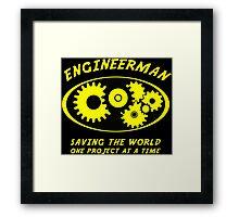 Engineerman Framed Print