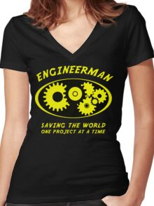 Engineerman Women's Fitted V-Neck T-Shirt