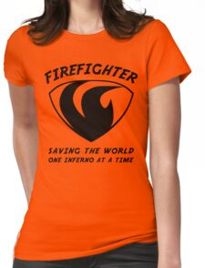 Firefighter Womens Fitted T-Shirt