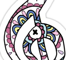 Mandala Treble Clef - Color Sticker