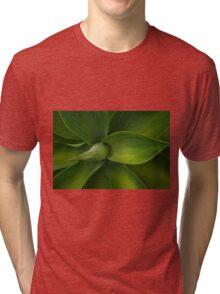 Agave plant .. Green swirls Tri-blend T-Shirt