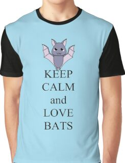Keep calm and love bats Graphic T-Shirt