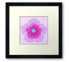 Pink and Blue Flower Framed Print