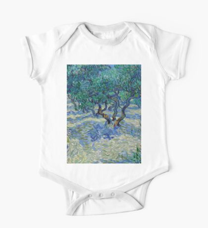 1889-Vincent van Gogh-Olive Grove-73,03x92,08 One Piece - Short Sleeve
