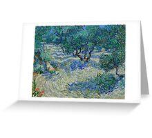 1889-Vincent van Gogh-Olive Grove-73,03x92,08 Greeting Card