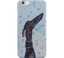 GREYHOUND LOVE g294heart iPhone Case/Skin