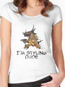 I'm Styling Dude - Greymon Women's Fitted Scoop T-Shirt