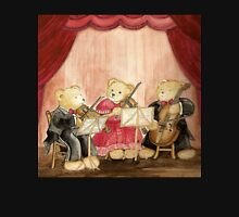 CUTE TEDDYBEARS IN CONCERT - A Famous Teddybear String Trio Womens Fitted T-Shirt