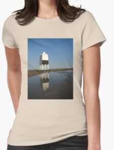 'Lighthouse Reflections', Burnham on Sea, Somerset Womens Fitted T-Shirt