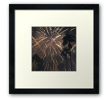 Fireworks Over Hollywood Framed Print