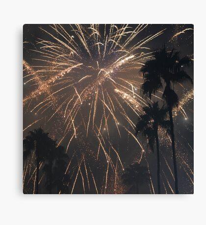 Fireworks Over Hollywood Canvas Print