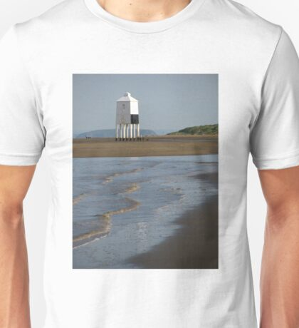 'Lighthouse and Ripples', Burnham On Sea, Somerset Unisex T-Shirt