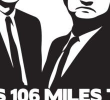 miles chicago Sticker
