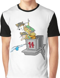 Boy and Kids Calvin and Hobbs Fireman Graphic T-Shirt