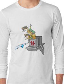 Boy and Kids Calvin and Hobbs Fireman Long Sleeve T-Shirt