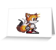 Cross stitch 8-bit Tails Greeting Card