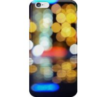bokeh of city lights in the background iPhone Case/Skin