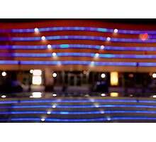bokeh of city lights in the background Photographic Print
