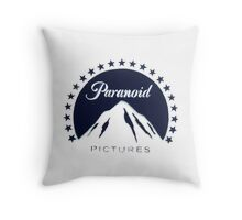 Banksy Paranoid Pictures Throw Pillow