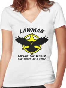 Lawman Women's Fitted V-Neck T-Shirt