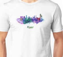 Kobe skyline in watercolor Unisex T-Shirt