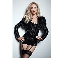 A Blonde In Leather Photographic Print
