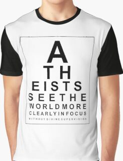 Atheist Eye Test Graphic T-Shirt