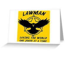 Lawman Greeting Card