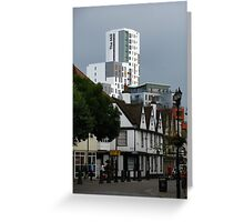 The New and The Old, Ipswich, Suffolk Greeting Card