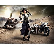 Traveling Steam Punk Photographic Print